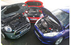 VW Polo GTI, Ford Fiesta ST, Mini Cooper S, Motor