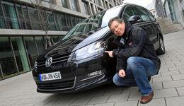 VW Sharan 2.0 TDI, Frontansicht, Dirk Gulde