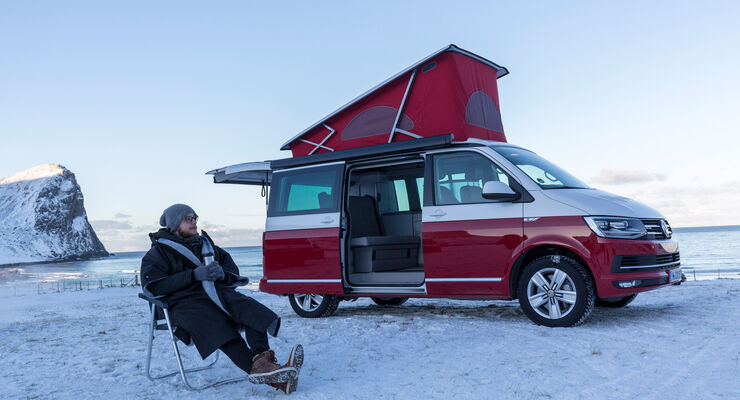 VW T6 California Bulli Camping Lofoten Norwegen