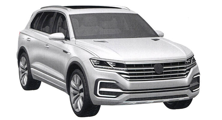VW Touareg Patentamtbilder