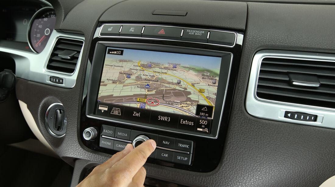 VW Touareg V6 TDI, Navi, Display