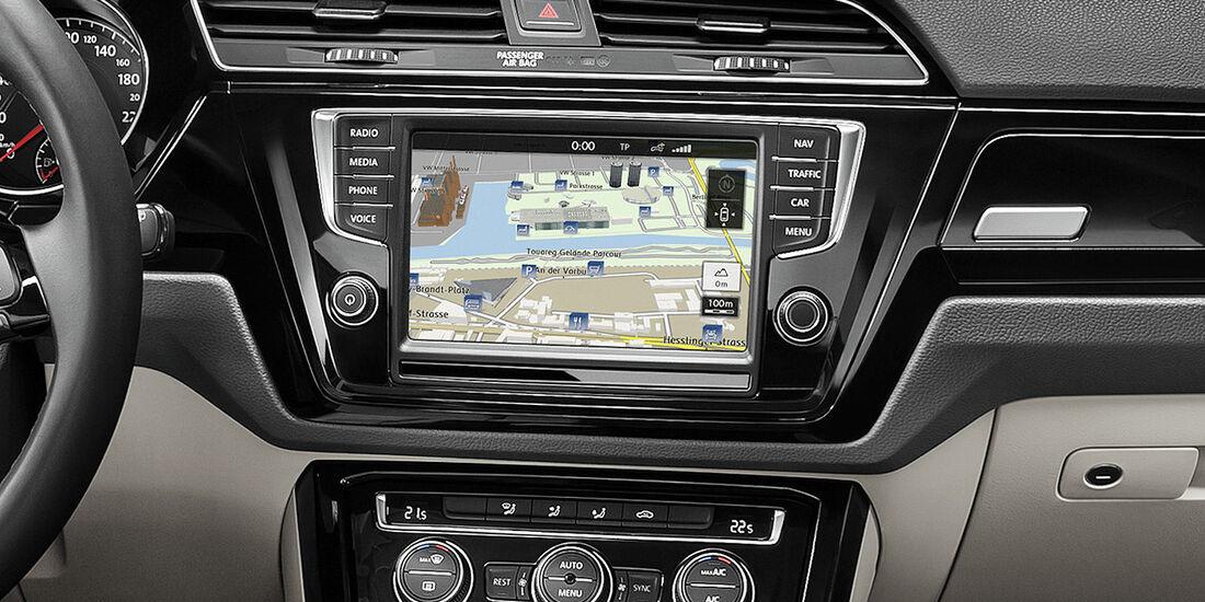 VW Touran 2015, Touchscreen
