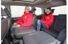 VW Touran, Innenraum, Rücksitze