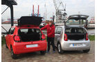 VW Up 1.0 Bluemotion, Citroën C1 Airscape VTi 82, Heckklappe