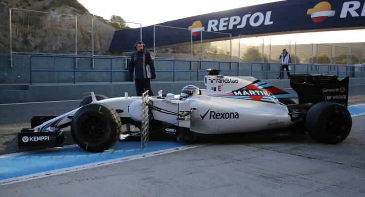 Valtteri Bottas - Williams - Formel 1-Test - Jerez - 2. Februar 2015