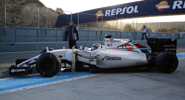 Valtteri Bottas - Williams - Formel 1-Test - Jerez - 2. Februar 2015
