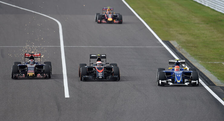 Verstappen, Button & Nasr - GP Japan 2015
