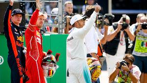 Verstappen - Vettel - Hamilton - GP Mexiko 2017