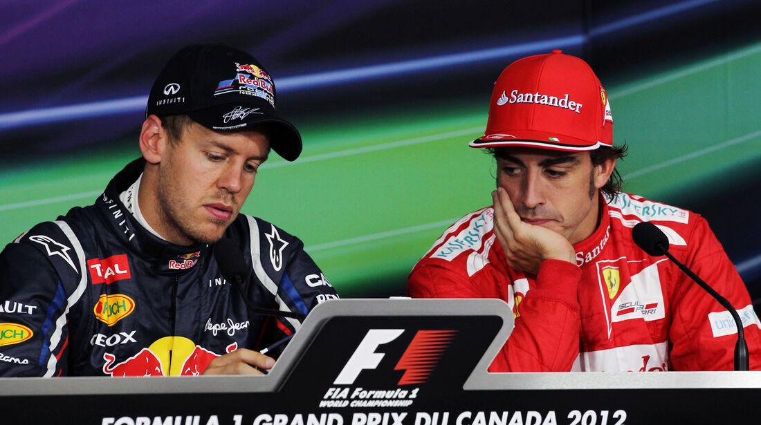 Vettel & Alonso - Formel 1 - GP Kanada - 10. Juni 2012