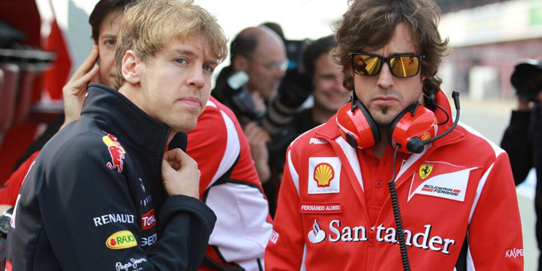 Vettel & Alonso - Formel 1-Test - Barcelona - 2012