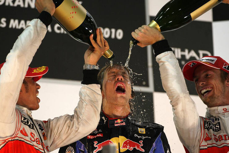 Vettel Podium GP Abu Dhabi 2010