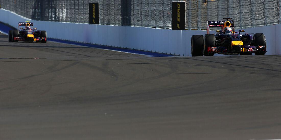 Vettel & Ricciardo - Red Bull - Formel 1 - GP Russland - 10. Oktober 2014