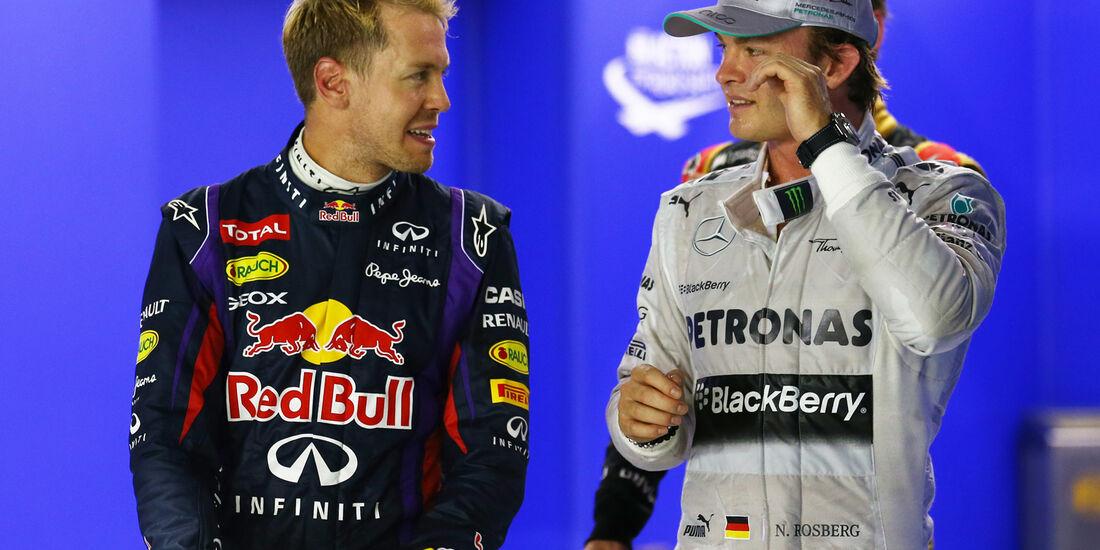 Vettel & Rosberg - Formel 1 - GP Singapur - 21. September 2013