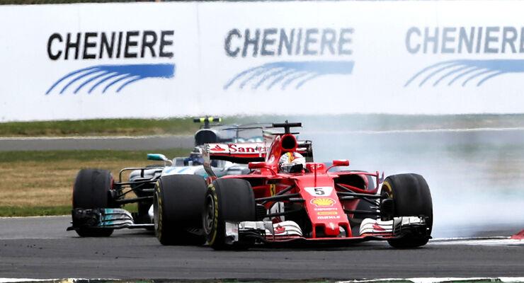 Vettel vs. Bottas - GP England 2017