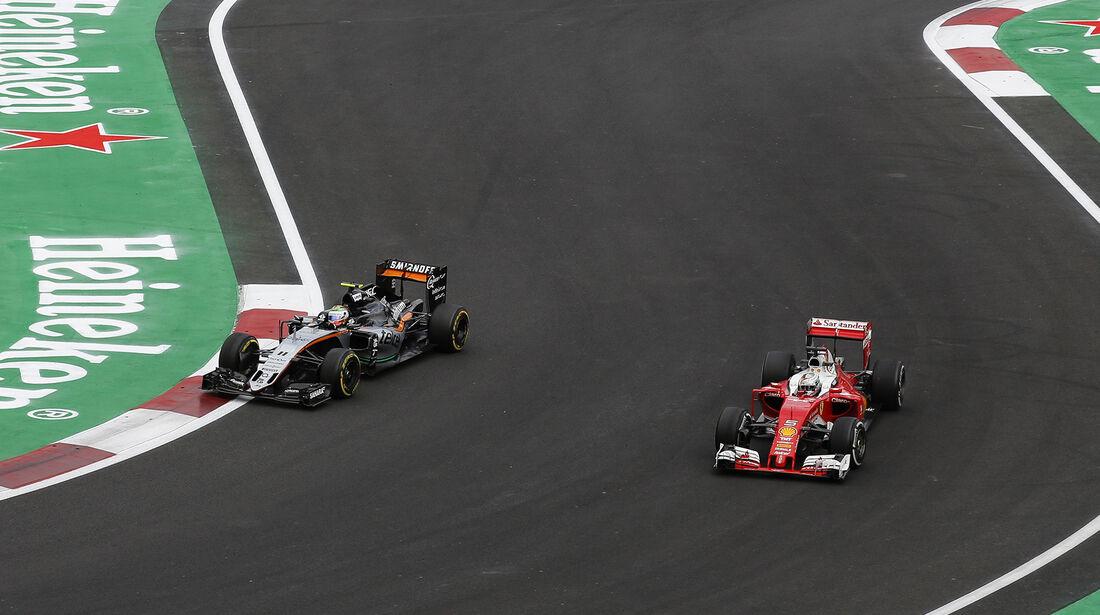 Vettel vs. Perez - Formel 1 - GP Mexiko - 28. Oktober 2016