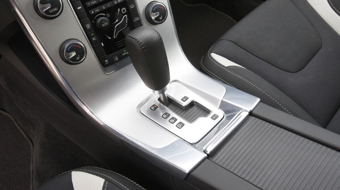 Volvo V 60, Schaltknauf, Schalthebel, Detail
