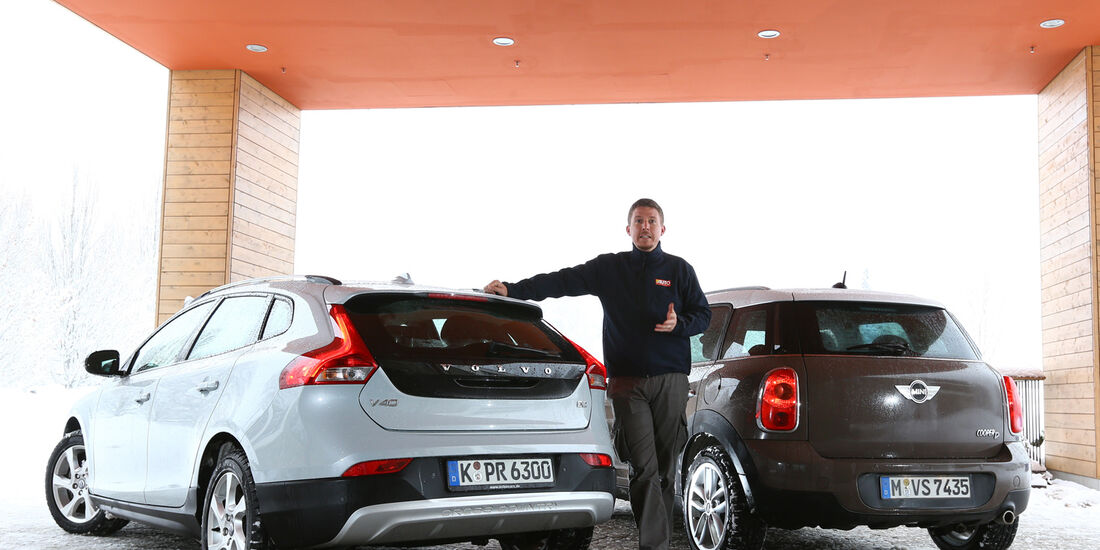 Volvo V40 Cross Country, Mini Cooper D Countryman, Heckansicht, Jens Dralle