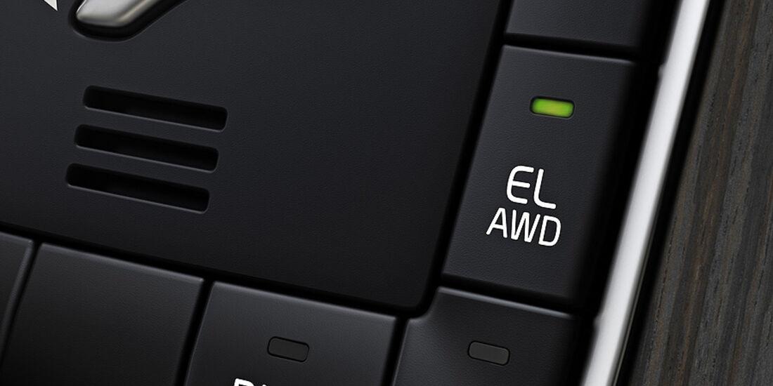 Volvo V60 Diesel-Plug-in-Hybrid, Schalter Elektrischer Allradantrieb