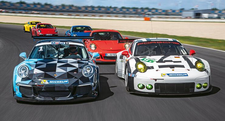 Vom Porsche 911 Carrera bis zum Rennwagen 911 RSR