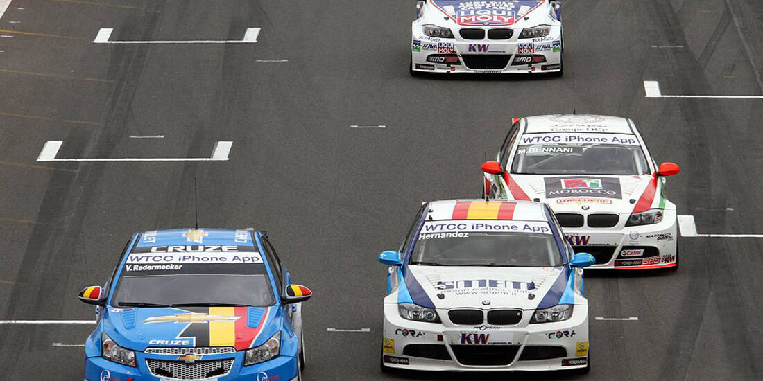 WTCC, Tourenwagen WM, Zolder, 2010, Chevrolet Cruze, Radermecker, BMW 320 si, Hernandez, Bennani