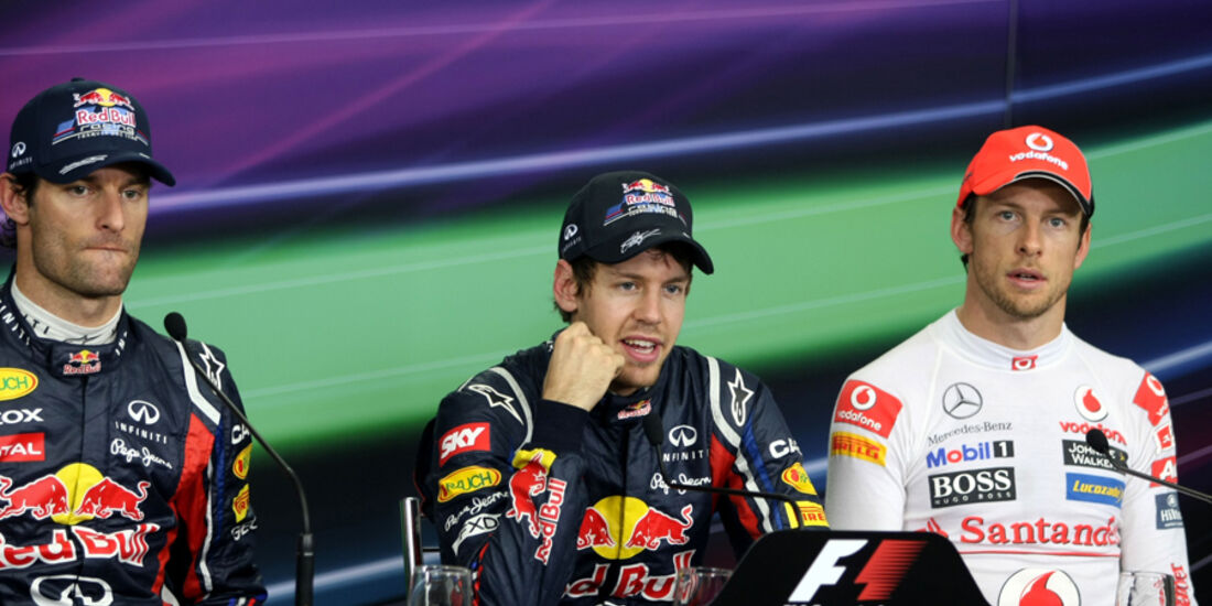 Webber, Vettel & Button - GP Brasilien - 26. November 2011
