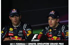 Webber & Vettel - GP Singapur - 24. September 2011