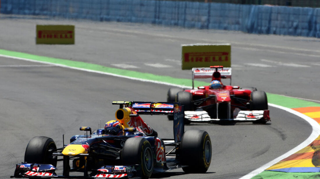 Webber vs. Alonso GP Europa Valencia 2011