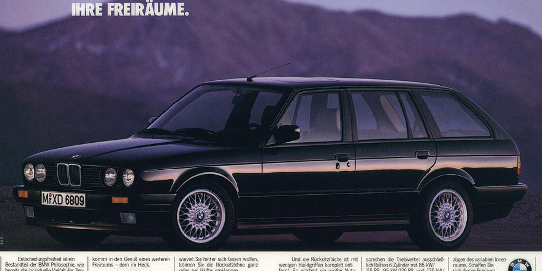 Werbeanzeige - BMW 3er Touring - E30 - Seitenansicht