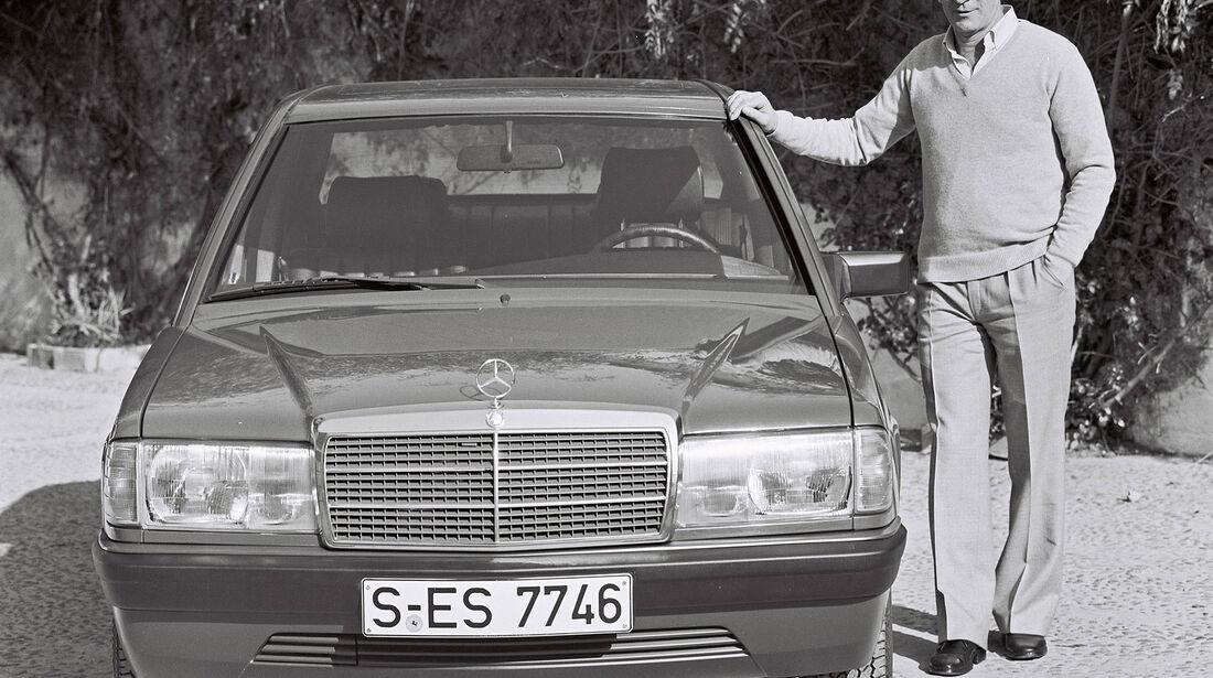Werner Breitschwerdt mit dem Mercedes 190 W 201