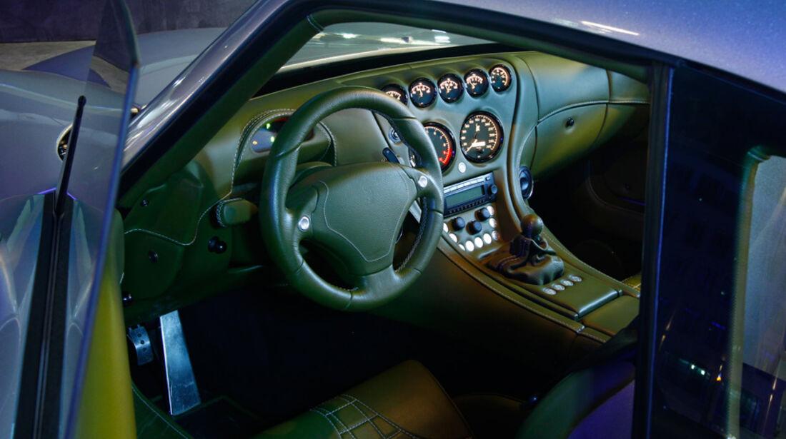 Wiesmann GT MF4-S, Detail, Cockpit, Lenkrad, Innenraum