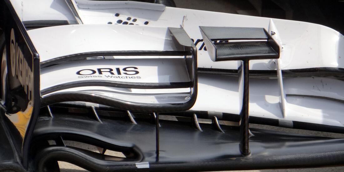 Williams Frontflügel - Formel 1 - GP China - 12. April 2013