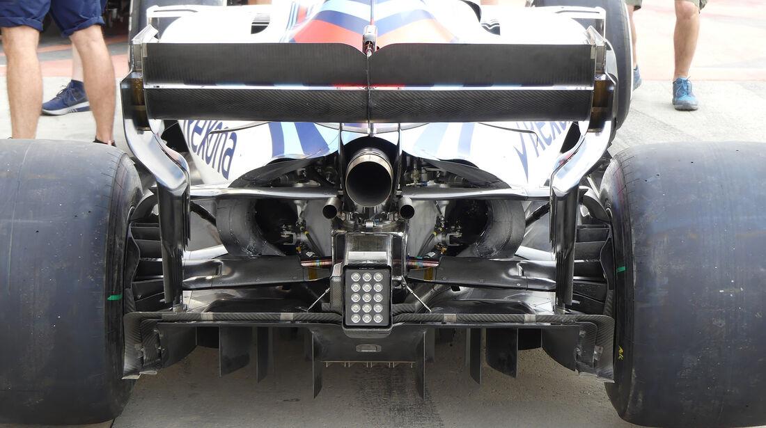 Williams - Technik - GP China / GP Bahrain - F1 2018