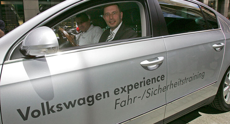 Wolfgang Tiefensee im VW