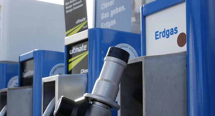 Zapfsäule Erdgas Tankstelle
