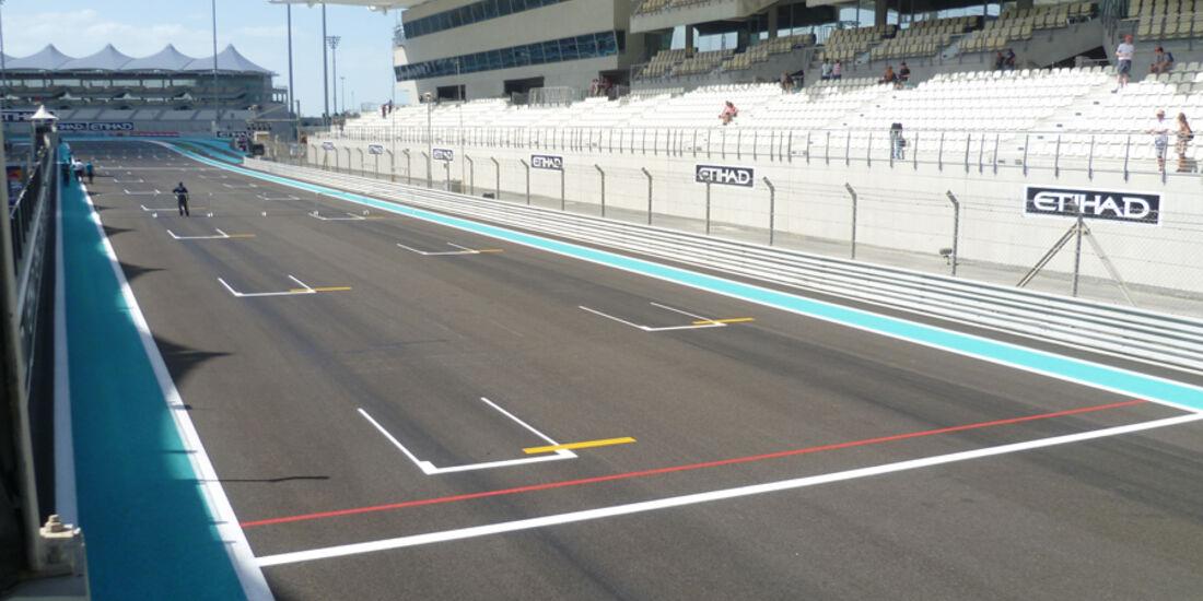 Zielgerade - GP Abu Dhabi - 10. November 2011