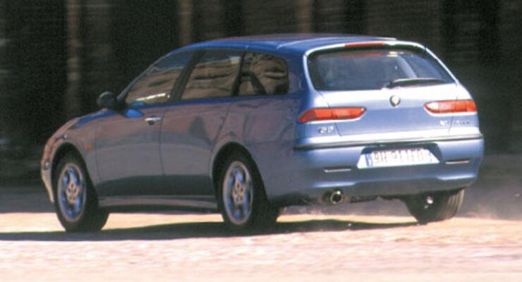 alfa romeo 156 sportwagon fahrbericht - auto motor und sport