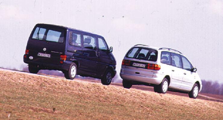 Doppeltest Vw Caravelle 25 Tdi Gegen Vw Sharan 19 Tdi Auto Motor