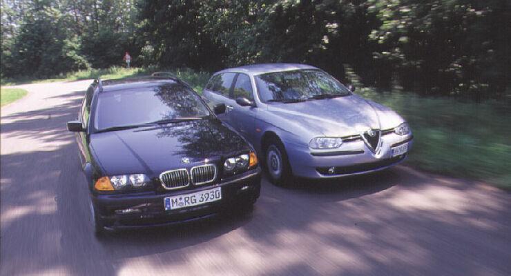 bmw 320i touring & alfa romeo 156 sportwagon 2.0 ts im vergleich