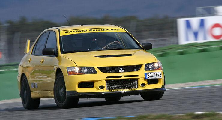 gassner-mitsubishi lancer evo ix im test - auto motor und sport