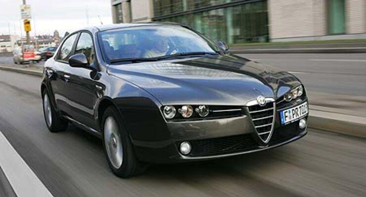 alfa romeo 159 2.4 jtdm im test: kraft-braten - auto motor und sport