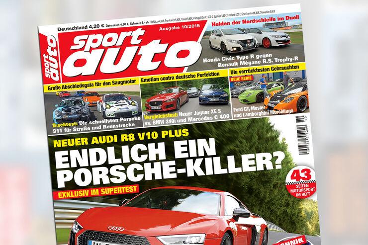 sport auto 10/2015, Heftvorschau, Titel, Preview