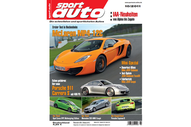 sport auto sportauto heft 10 2011 auto motor und sport. Black Bedroom Furniture Sets. Home Design Ideas